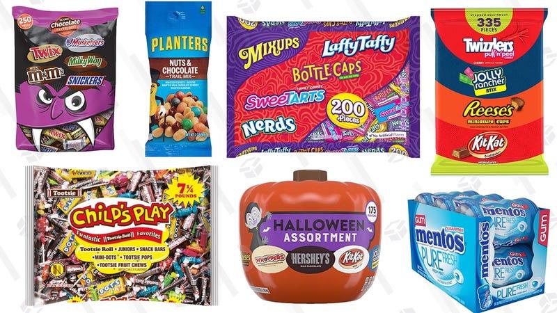 Halloween Candy Gold Box   Amazon
