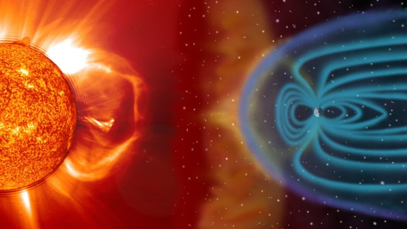 Illustration for article titled A massive solar storm could keep us grounded on Earth for a decade