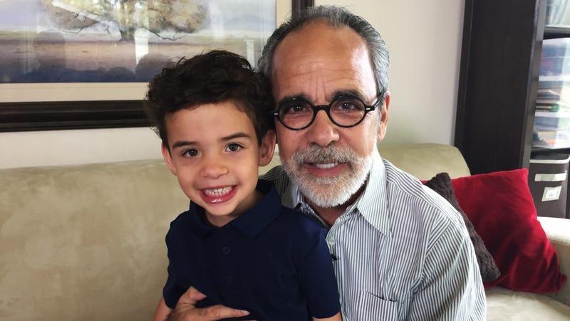 Howard Broadman and his grandson. Image: UCLA Health