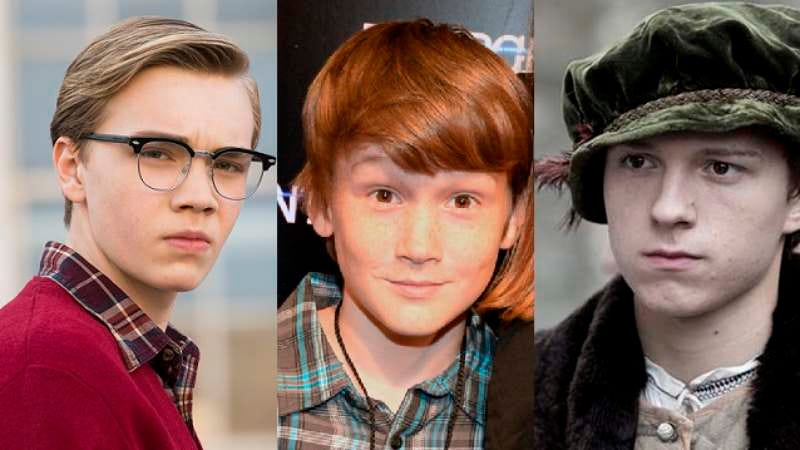 From left to right: Charlie Plummer in Granite Flats; Matthew Lintz, courtesy of Getty Images; Tom Holland in Wolf Hall