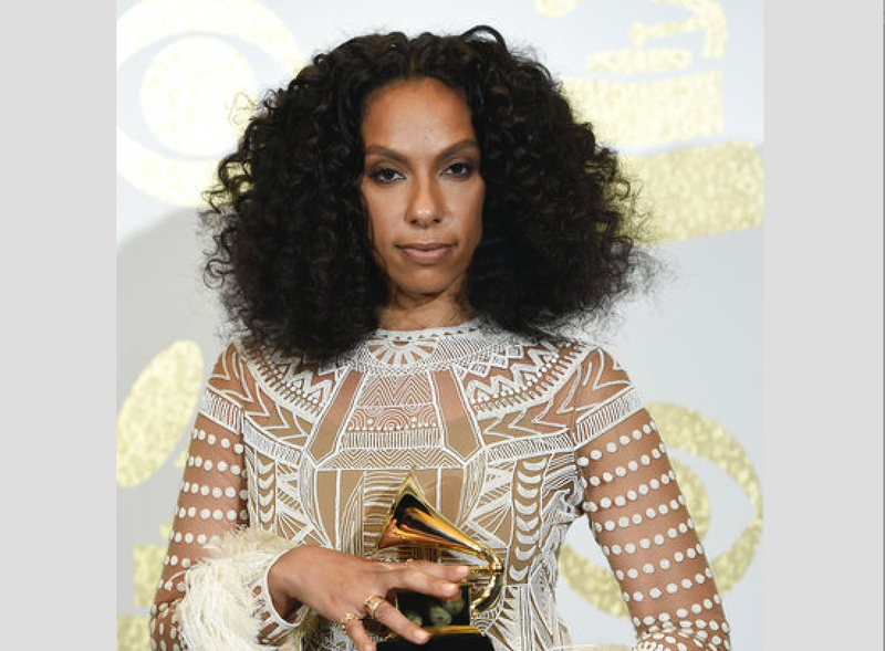 "Melina Matsoukas with her Grammy for best music video for ""Formation"" on Feb. 12, 2017, in Los Angeles (Chris Pizzello/Invision/AP)"