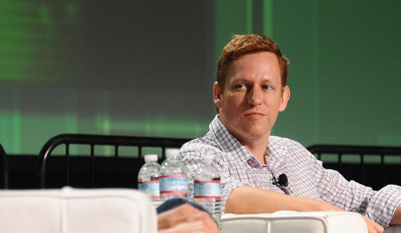 Peter Thiel at TechCrunch Disrupt in San Francisco, 2011. Photo credit: Getty Images.