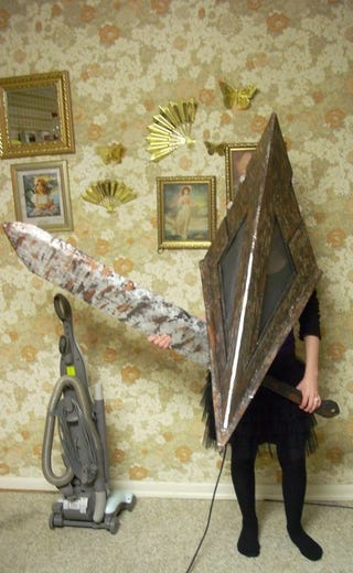 Illustration for article titled Please Silent Hill Cosplayer, Don't Kill The Vacuum Cleaner