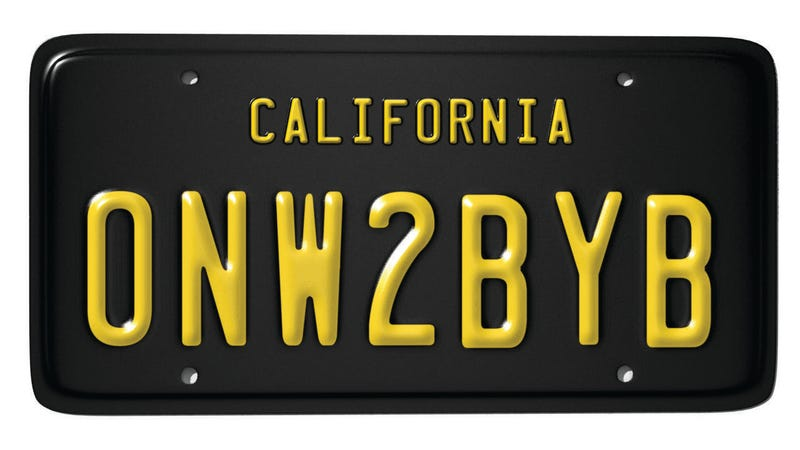 Illustration for article titled Rejected CA Personal Plates