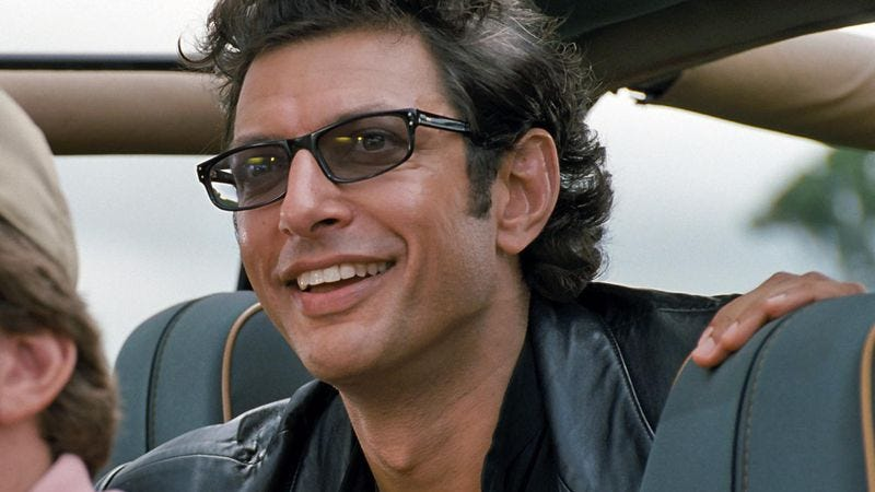 Illustration for article titled Someone made a song using Jeff Goldblum's weird laugh from Jurassic Park