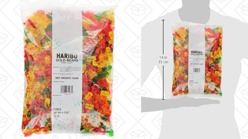 Haribo Gummi Bears - 5 Pounds | $10 | Amazon | With Subscribe & Save. Order with Prime for $11