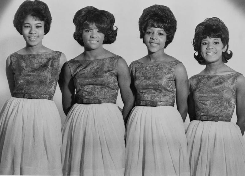 Barbara Ann Alston, second from the right, with the rest of The Crystals