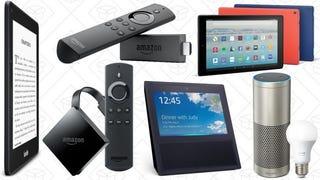 Echo Show | $150 | AmazonEcho Plus | $120 | AmazonEcho | $80 | AmazonEcho Dot | $30 | AmazonFire TV Stick | $35 | AmazonFire TV | $55 | AmazonFire 7 Tablet | $30 | AmazonFire HD 8 Tablet | $50 | AmazonFire HD 10 Tablet | $120 | AmazonKindle | $60 | AmazonKindle Paperwhite | $100 | Amazon