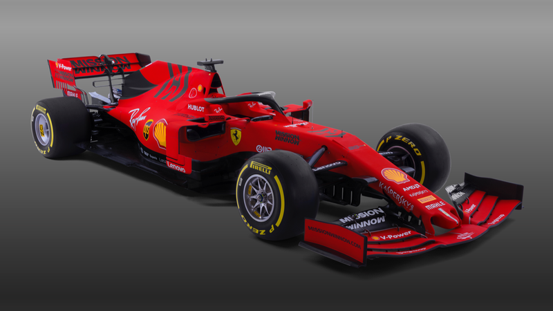Illustration for article titled The Ferrari F1 Team's 2019 Car Livery Goes Matte for Performance Reasons