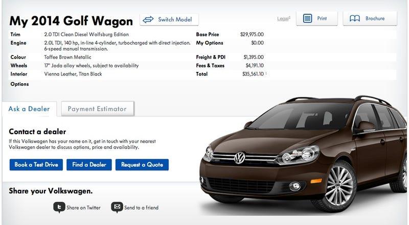 Illustration for article titled VW Jalop Configurator: Success