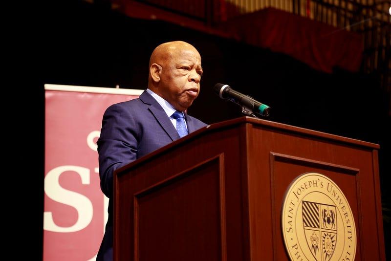 Rep. John Lewis (D-Ga.) speaking at St. Joseph's University in Philadelphia on April 16, 2018.