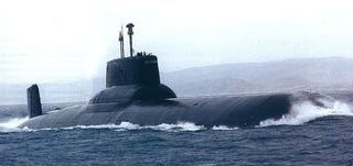 Illustration for article titled The Massive Soviet Sub That Inspired 'Hunt For Red October'