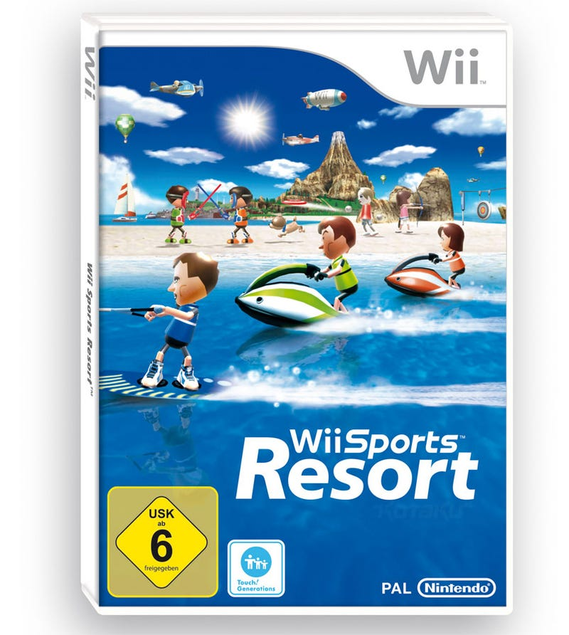 Illustration for article titled We Much Prefer Europe's Wii Sports Resort Box Art