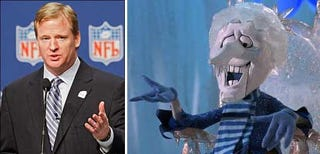 Illustration for article titled Roger Goodell Fiercely Guards His Snow Domain