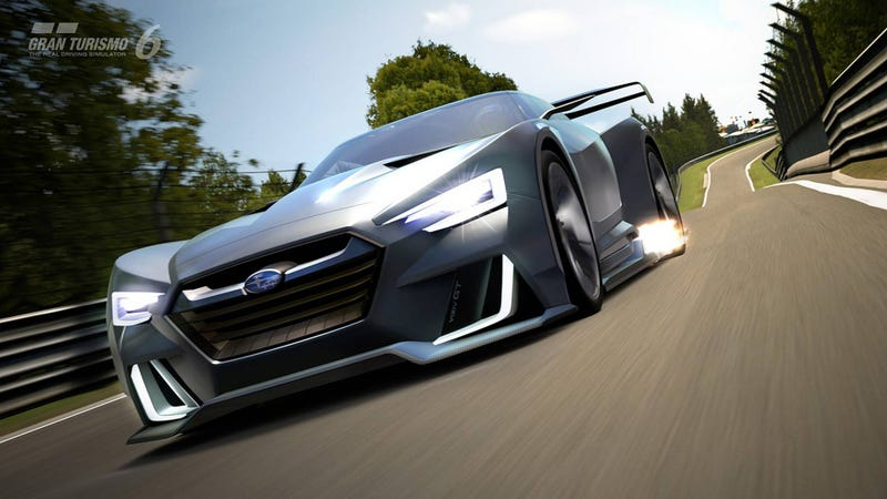 The Subaru GT Vision Gran Turismo, which is about as real as this rumor is