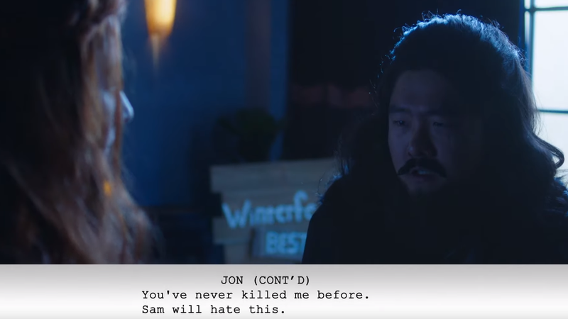 Jon Snow does not like being killed.