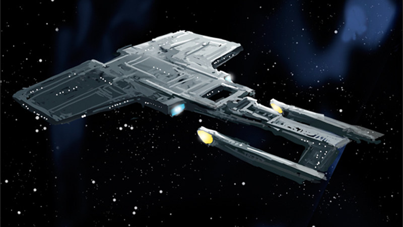 Concept art for the U.S.S. Enterprise from Star Trek: Final Frontier. Art by Brice Parker, via the Star Trek: Final Frontier Official website.
