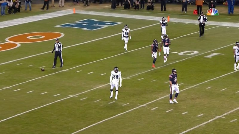 Illustration for article titled Bears Complete 30-Yard Pass For No Gain As Officials Recover Fumble
