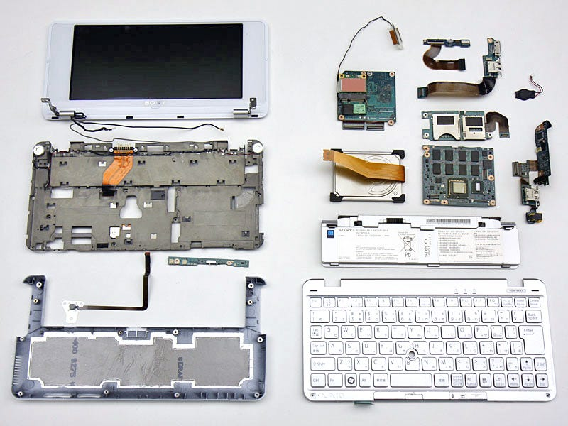 Illustration for article titled Sony Vaio P Dissected Shows Detailed Electronics Gore