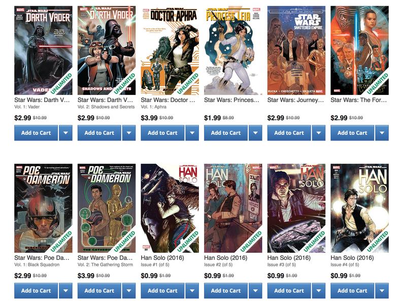Star Wars Digital Comic Sale | ComiXology