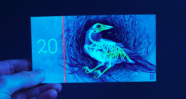 Gorgeous Banknotes Feature Flora, Fauna—And Skeletons Under UV Light Zoology Pictures Animals
