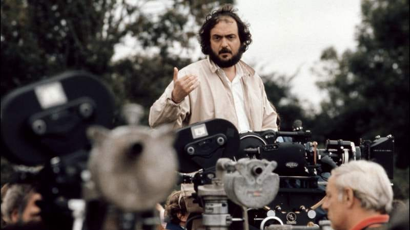 Kubrick on the set of Barry Lyndon.