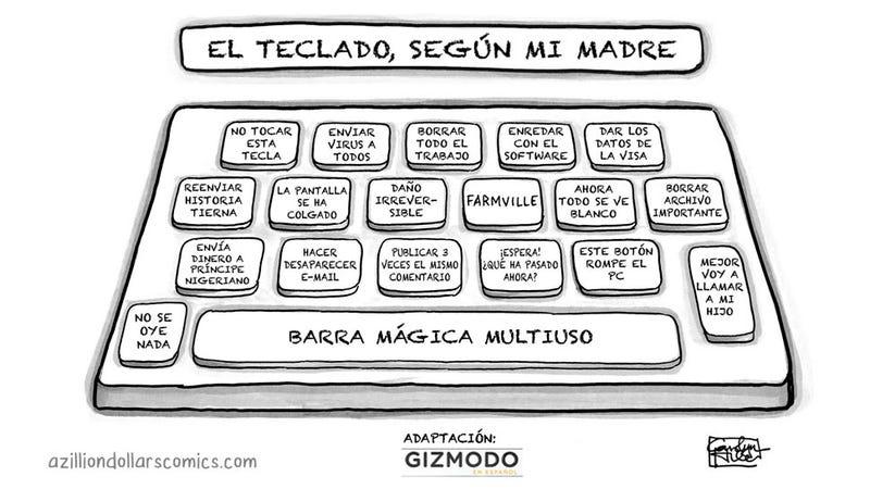 El teclado, según mi madre