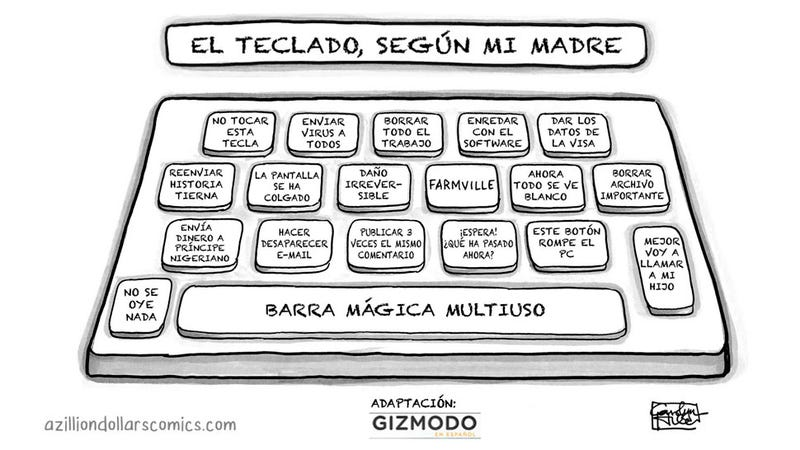 Illustration for article titled El teclado, según mi madre