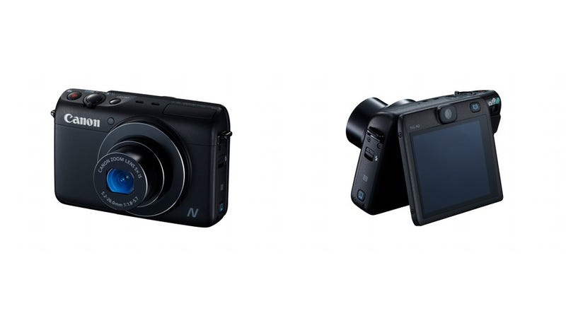 Illustration for article titled Canon PowerShot N100 Has Two Cameras So You Can Take Frontback Photos