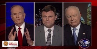 Bill O'Reilly, former State Department Senior Adviser Christian Whiton and Col. David Hunt on The O'Reilly Factor YouTube screenshot