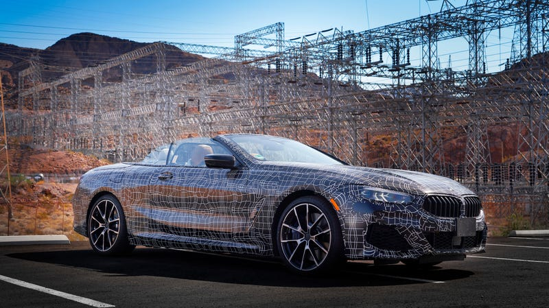 Illustration for article titled Here's the New BMW 8 Series Convertible Feeling the Heat in the Desert