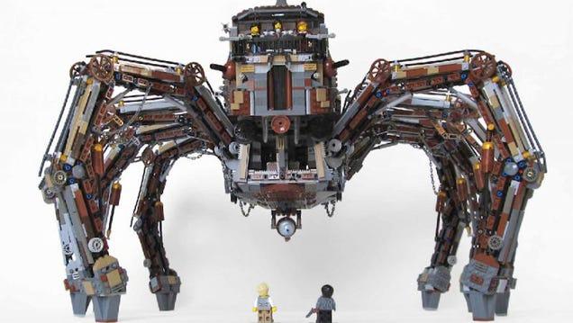 This Steampunk Lego Tarantula Is Terrifyingly Cool