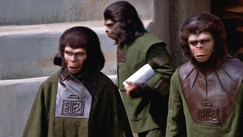 Cover detail from The Making of Planet of the Apes.