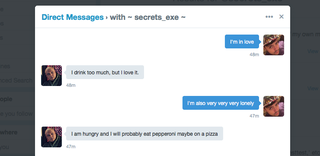 Illustration for article titled This Twitter Bot Shares Devastating Secrets In Exchange For Yours