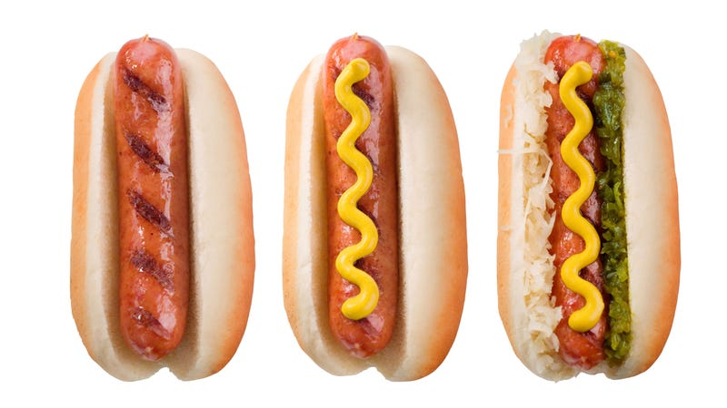 Illustration for article titled What are the ideal condiments on a hot dog?