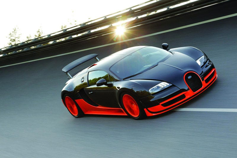 Top speed of bugatti veyron