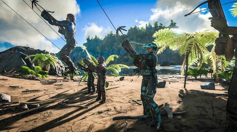 Illustration for article titled Ark: Survival Evolved Gets Grappling Hooks