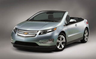 Illustration for article titled Chevy Volt convertible begins the automotive April Fools' Day silliness