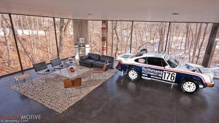 Illustration for article titled Ferris Bueller house + retro rally Porsche = winning life