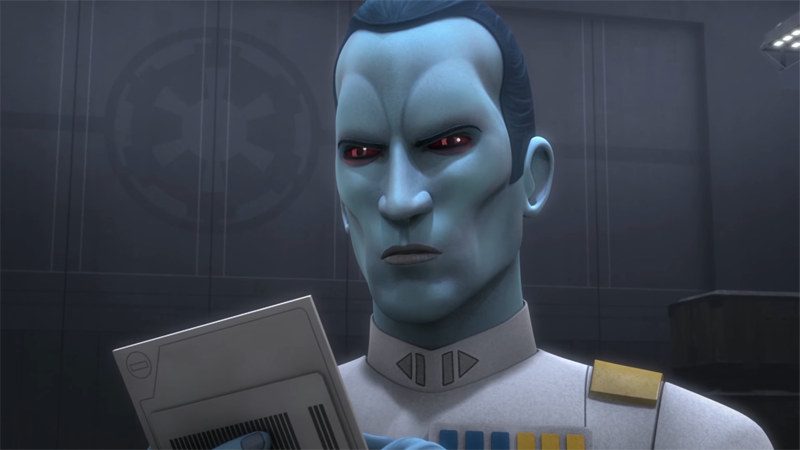 Illustration for article titled Watch Grand Admiral Thrawn Be a Total Jerk In This Star Wars RebelsClip