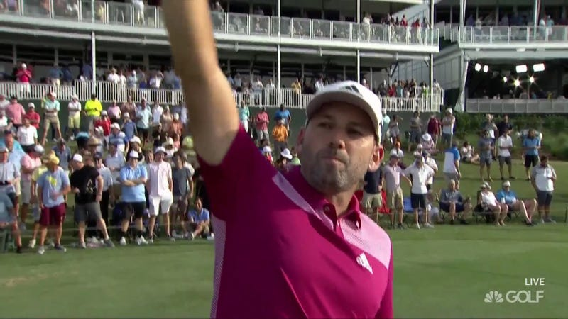 Illustration for article titled Sergio Garcia Becomes Eighth Player Ever To Ace No. 17 At The Players Championship