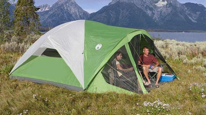 Coleman Evanston 8-Person Tent with Screen Room | $87 | Amazon