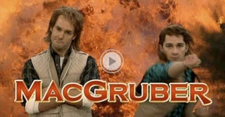 Illustration for article titled SNL's MacGruber Defuses a Bomb With a Battery, Rubber Band and BTW His Son is Not Gay