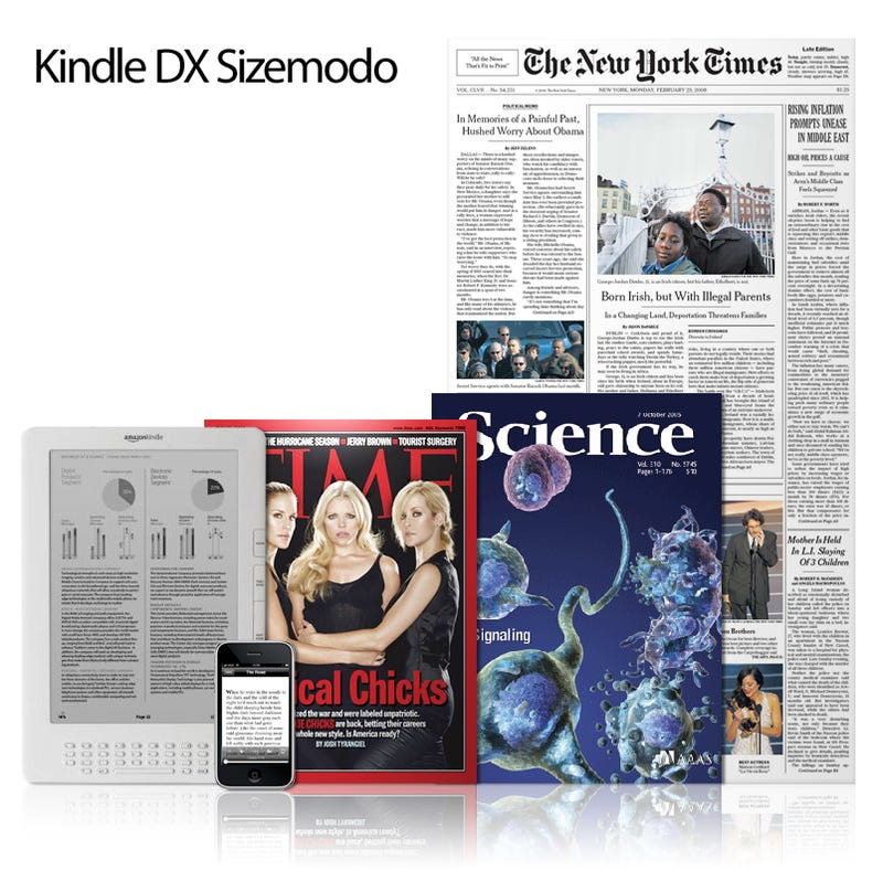 Illustration for article titled Kindle DX vs Magazines, Journals, and Newspapers