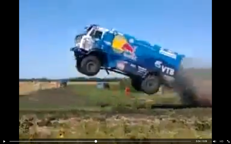 Illustration for article titled Ridiculous Kamaz Jump