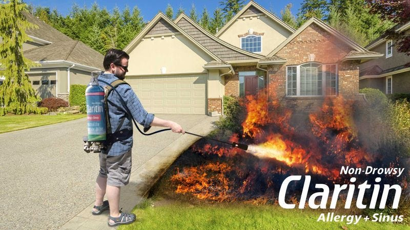 Illustration for article titled New Claritin Flamethrower Incinerates Whatever Causing Allergies