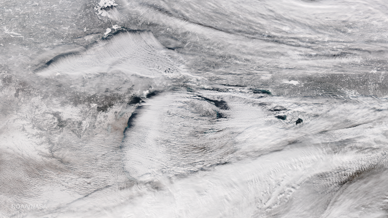 This image of the Great Lakes was captured by the the NOAA/NASA Suomi NPP satellite's Visible Infrared Imaging Radiometer Suite (VIIRS) instrument. (Image: NOAA/NASA)