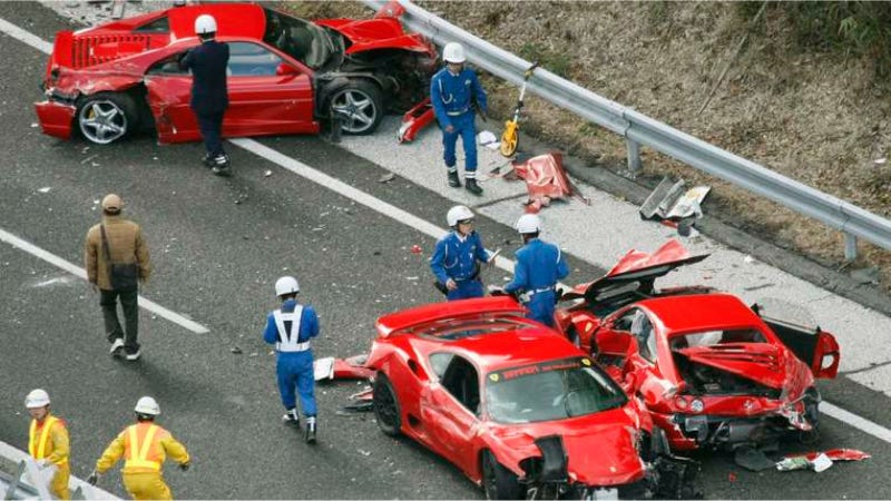 Illustration for article titled The Drivers From The World's Most Expensive Car Crash Are Headed To Court