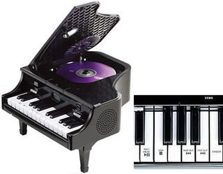 Illustration for article titled Unique Mini Piano With Hidden CD Player