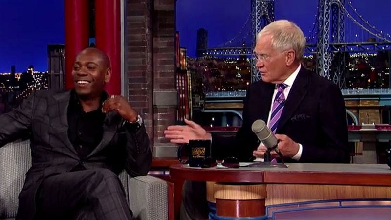 Illustration for article titled Dave Chappelle talked with David Letterman about leaving Chappelle's Show